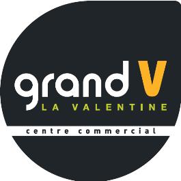 logo centre commercial Grand V La Valentine